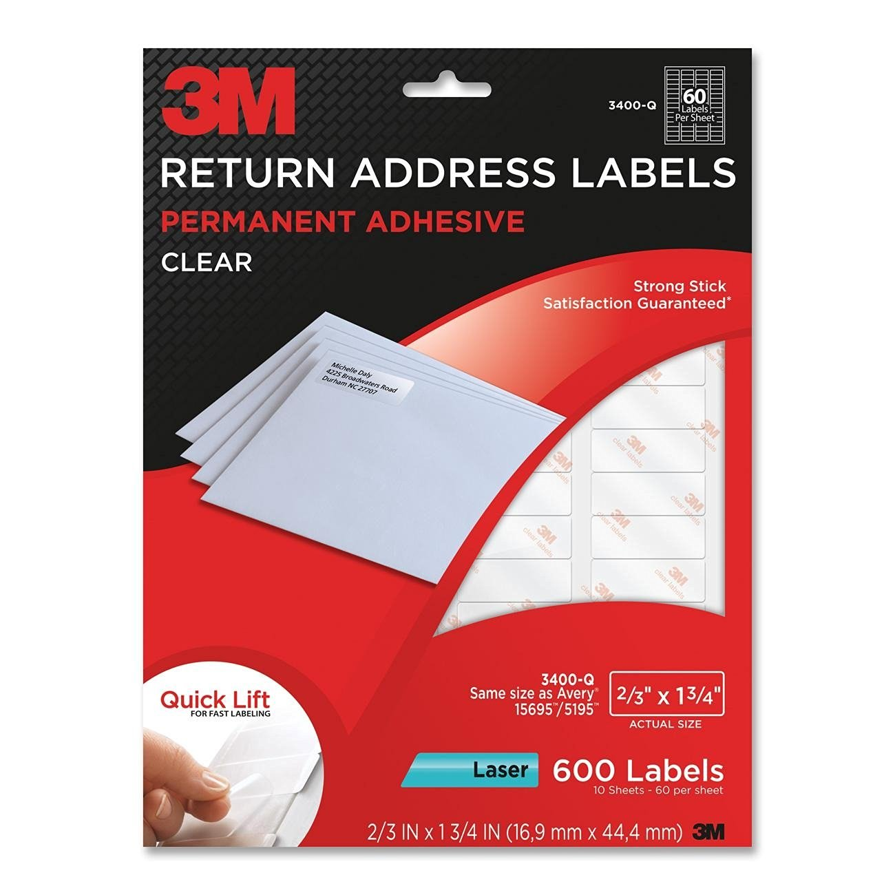Buy 3m Return Address Labels With Quick Lift Design For Laser