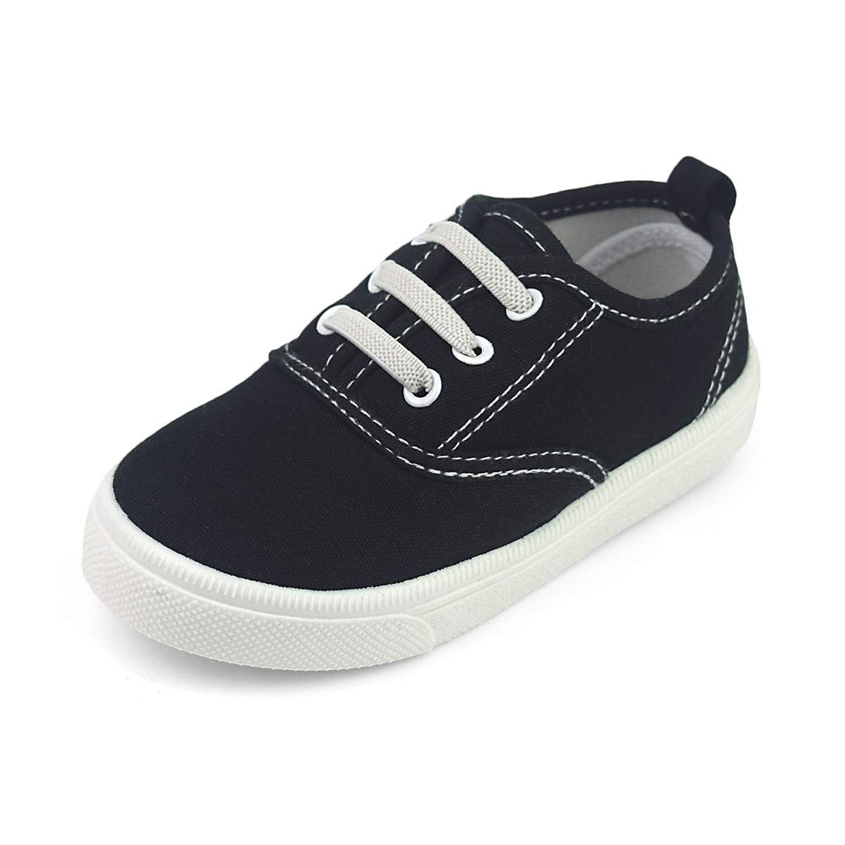 Toddler Boys Girls Canvas Sneaker Lace Up Slip-on Casual Fashion Shoes