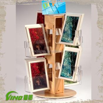 Wood Greeting Card Display StandSpinning Greeting Card Display Mesmerizing Wooden Greeting Card Display Stand