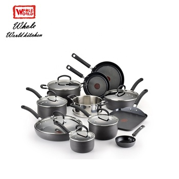 Hot sale best sale low price aluminum dessini  cookware sets with tempered glass lid and  fda certification