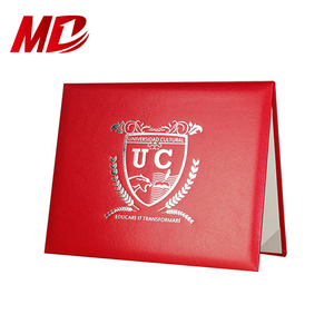 High Quality Leather Certificate Folders For College