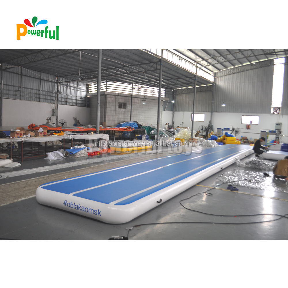 Popular custom 6m 8m air track dwf material air track for gym