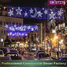 Customize commercial ramadan street decoration with star and moon