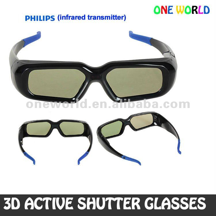 3D Active Shutter Glasses With Stylish Appearance,High Contrast Brings Optimal 3D Viewing Experience For 42PFL8605 PHILIPS tv