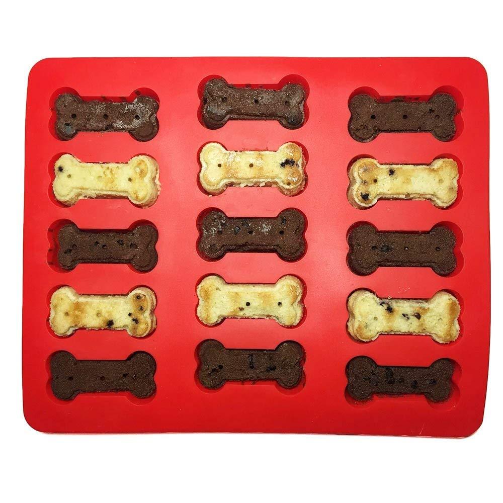 Dog Treat Cake Pan, Silicone Bone Mold, 12 by 10 inch