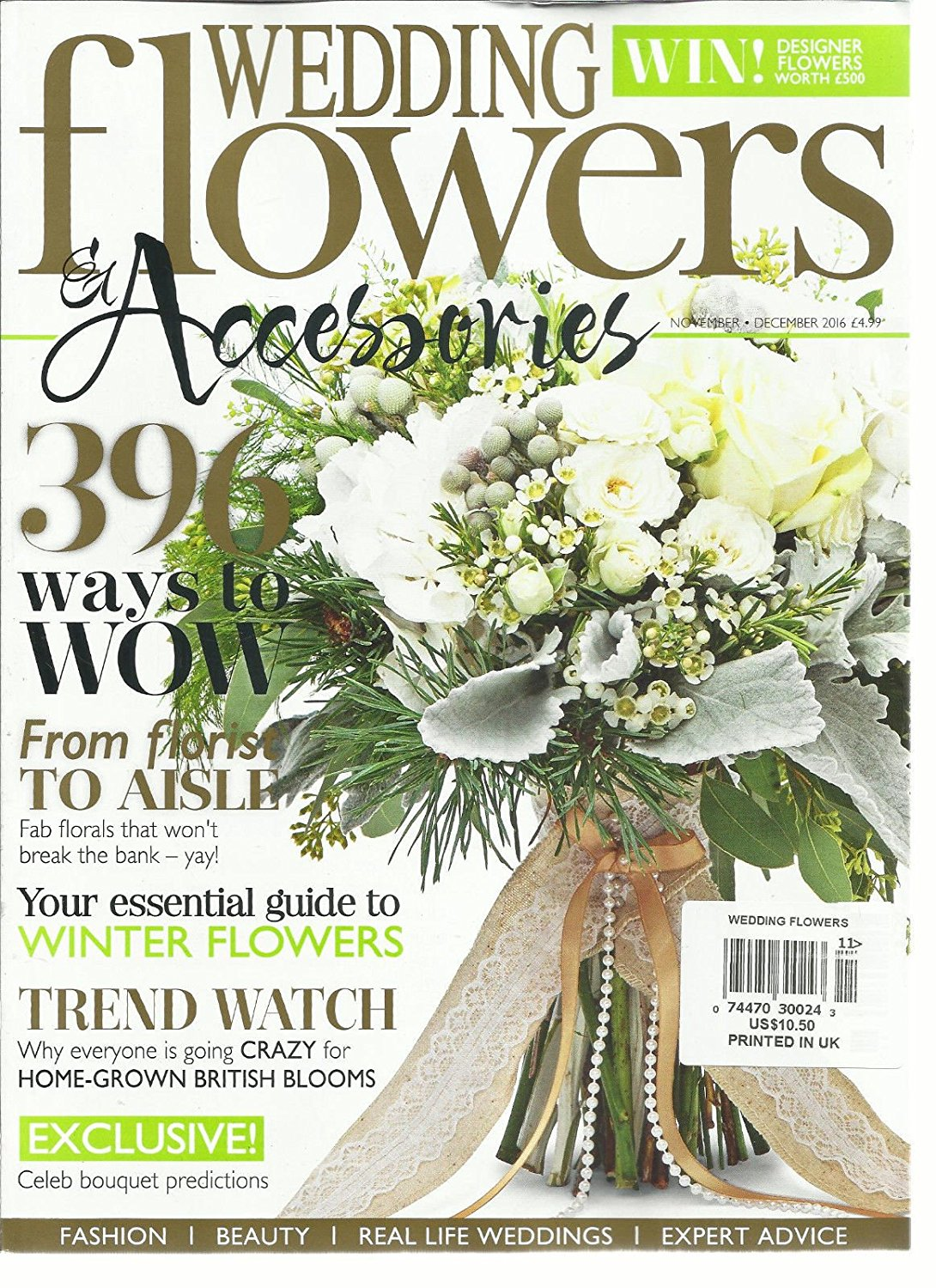 WEDDING FLOWERS & ACCESSORIES, 396 WAYS TO WOW NOVEMBER / DECEMBER, 2016