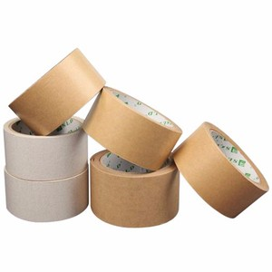 Free Sample Wholesale 130mic~160mic Kraft Paper Tape Roll Gummed Craft Paper tape From Factory In Jiangmen China