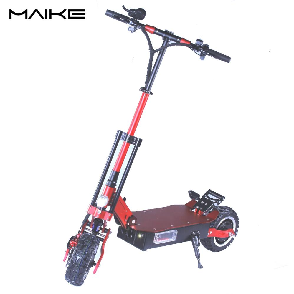 2019 MAIKE 5000W dual motor long range motorcycle 11inch offroad fat tire electric scooter adult