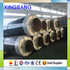 New technology aluminum foil insulated glass wool coated steel jacket steam heat insulated pipe for steam pipeline