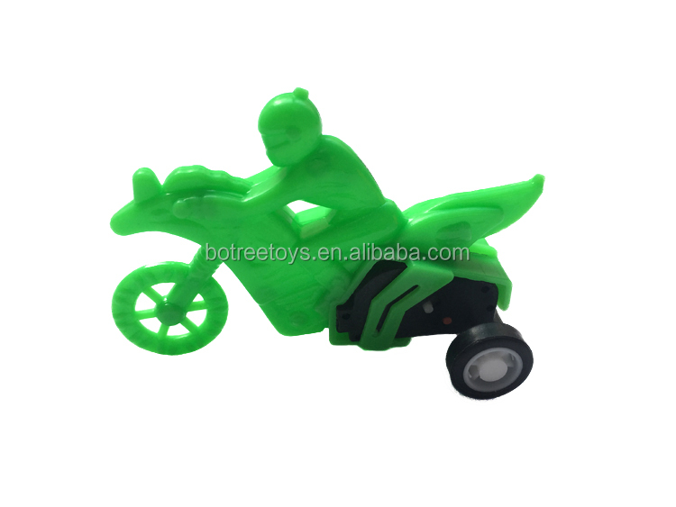 Pull Back Friction Toy Vehicle Plastic Three-Wheeled Motorcycle Cars