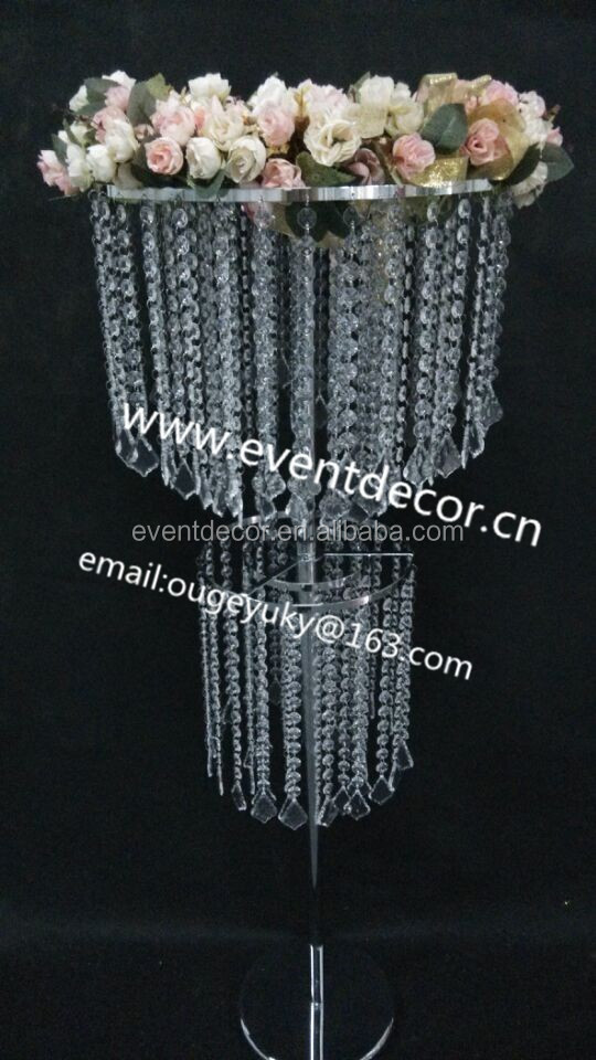 Cheap Wedding Table Decoration Wholesale Crystal Table Top