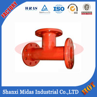 Ductile Cast Iron All Flanged Red Tee Pipe Fitting