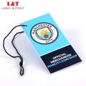 Uv Paper Hang Tag With Thread For Swimwear,Screen Printing Hangtag