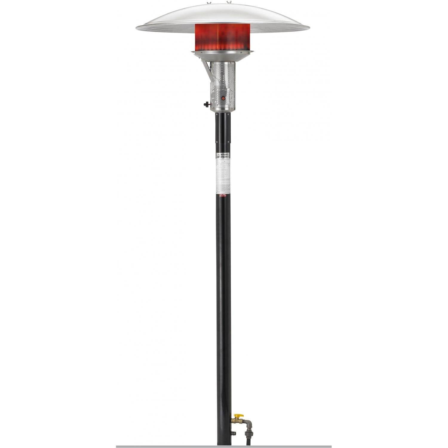 Sunglo 50000 Btu Natural Gas Post-mount Patio Heater - Black