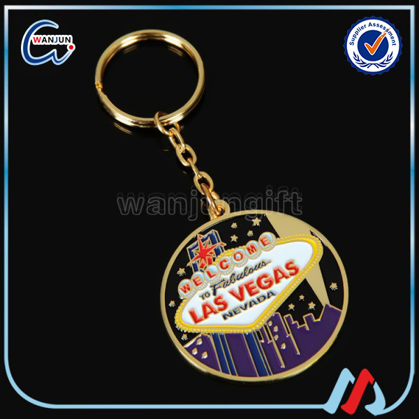 Sedex 4P promotional custom fancy key rings / keyrings