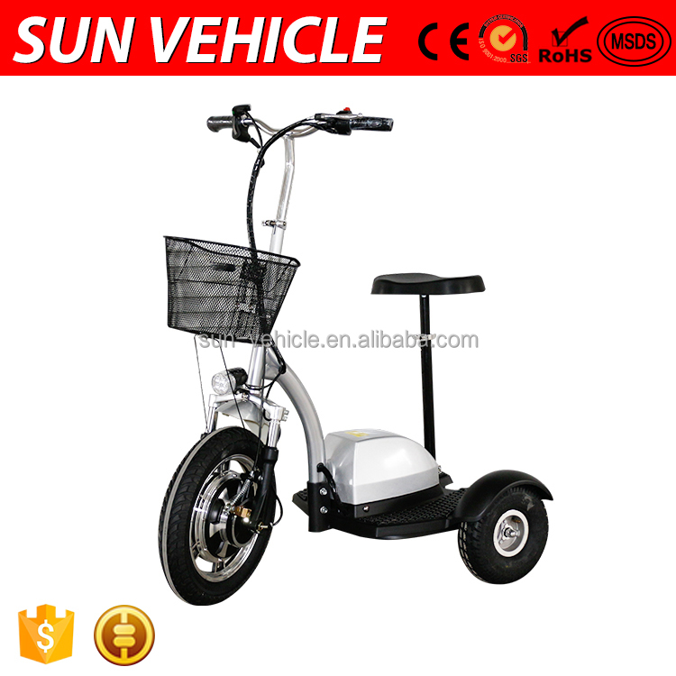 CE Certification Hand Brake Three Wheel Electric Scooter With Seat