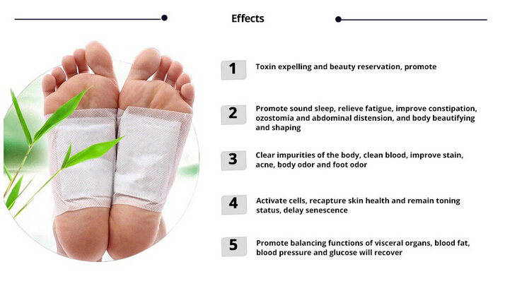 Detox Foot Pads Patches Met Lijm