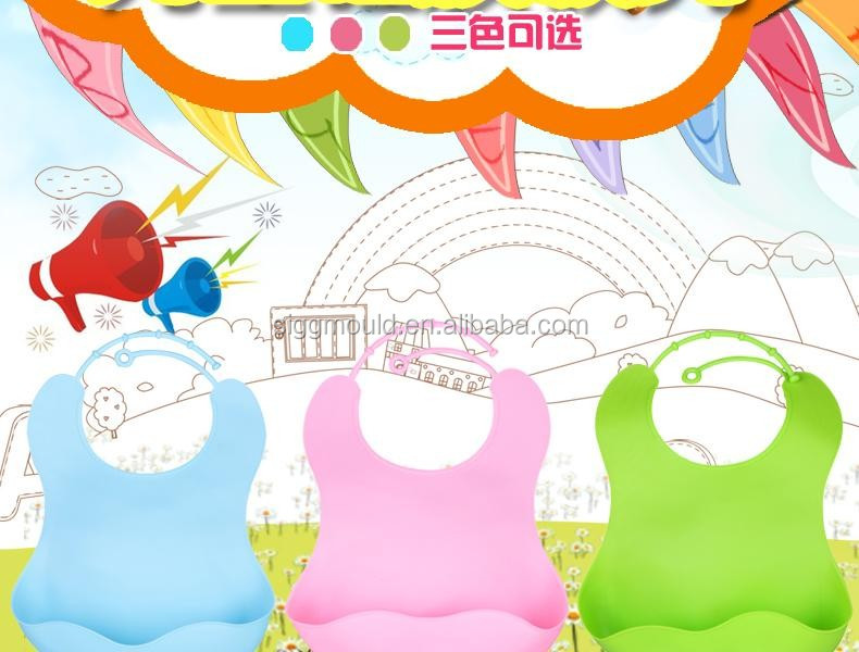 baby feeding bibs made by soft food grade tpe