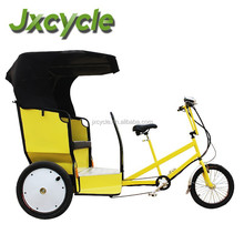 yellow color pedicab manual taxi bike for passenger