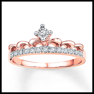 Latest top selling rose gold plating zircon ring