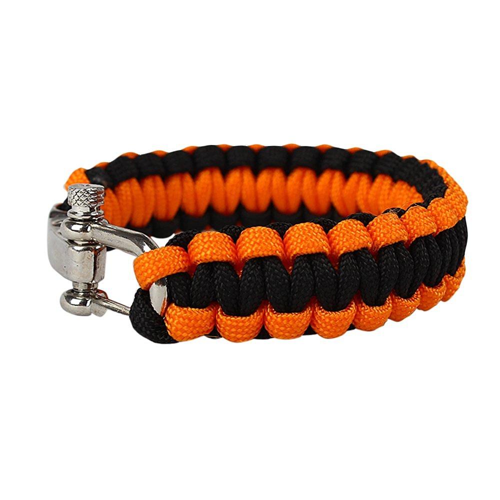 Paracord Survival Bracelet With Adjustable Metal Buckle