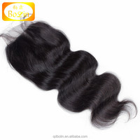 Bolin Hair Large Order Free Shipping Natural Color Body Wave Free Part Lace Closure With Brazilian Hair Closure