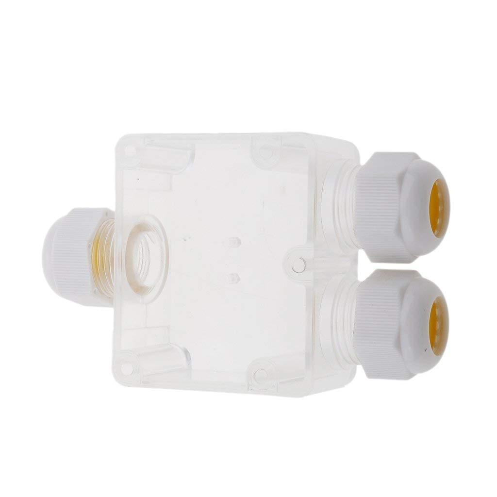 2PCS Waterproof  T-Type 3 Pole 3 Way Outdoor External Electrical Sleeve Coupler