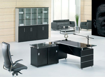 executive glass desk with return office desk cover glass glass metal