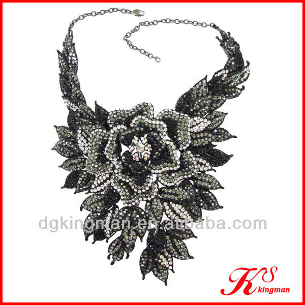 Bit Flower Full-jewelled Necklace/ Evening Dress Costume Jewelry