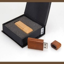 usb wood flash drive with boxes 32gb