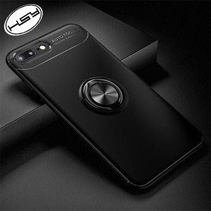 HUYSHE Hot Selling for iphone 8, 8 plus 360 Degree Case TPU Ring Grip Mobile Phone Case Compatible with Magnetic Car Mount