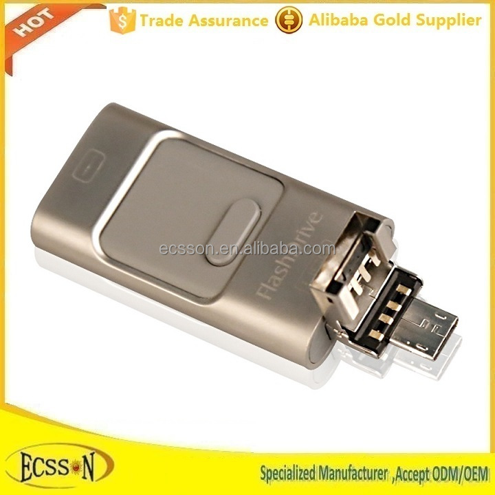 2015 new otg usb flash drive for iphone/ipad/ipod/android phones , 64gb usb flash drive with best quality
