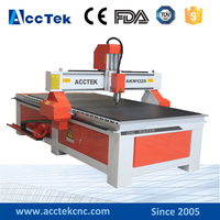 Acctek best price wood door making machine cnc router machine 1325 1300*2500mm AKM1325