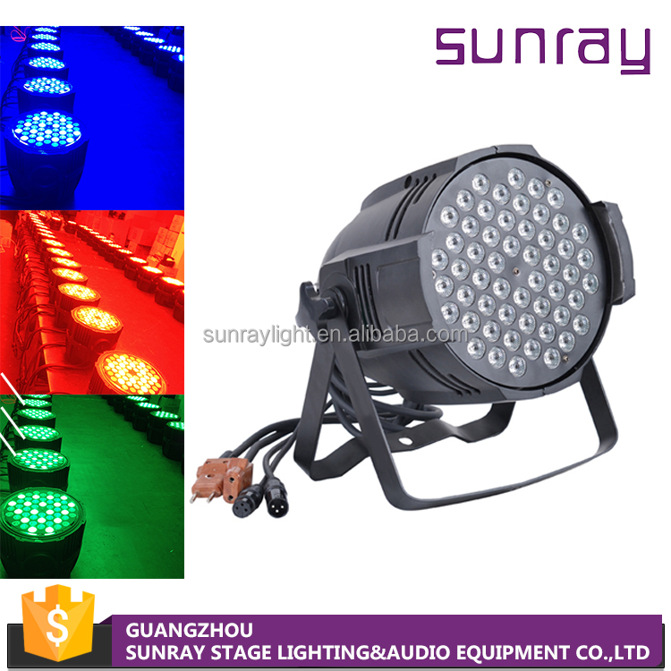 High Brightness Music Activate Stable Performance 54Pcs 3W Rgbw Multi Color Dmx512 Control Led Par Light