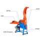 Dry wheat straw crusher/chaff cutter/forage chopper to feed animals in farm