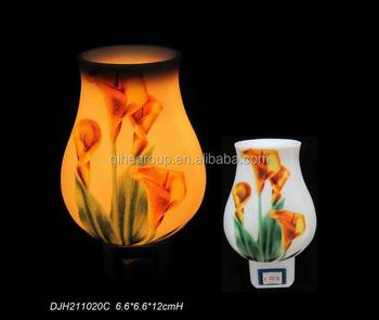 Tulips Fashion Ceramic Wall Plug Night Light