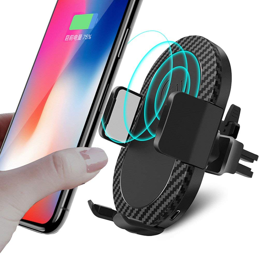 Car Wireless Charger For Samsung S9 Car Mount 10W Qi Wireless Fast Charger For iPhone X Fast Wireless Charger Car Holder фото