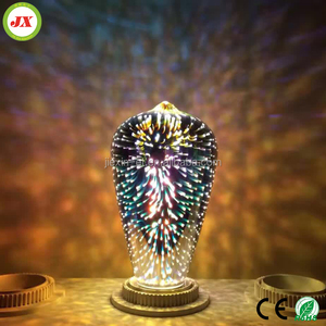 2017 best selling Led Fireworks effect lamp 3d printed light Led night light