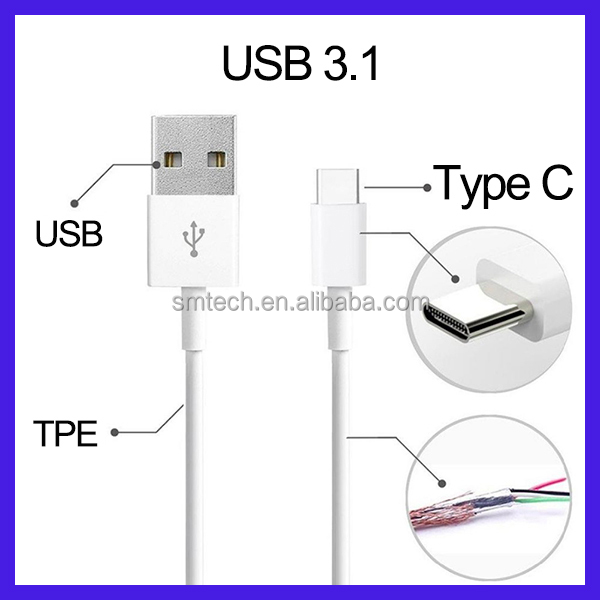 Latest 10Gbps data transfer and charging USB3.0 to USB type-C 3.1 cable for iPhone for android