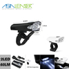 12 Hours Continuous Lighting USB Bike Accessories Built-in 300mah Battery 60 Lumen 2 LED Bicycle Light