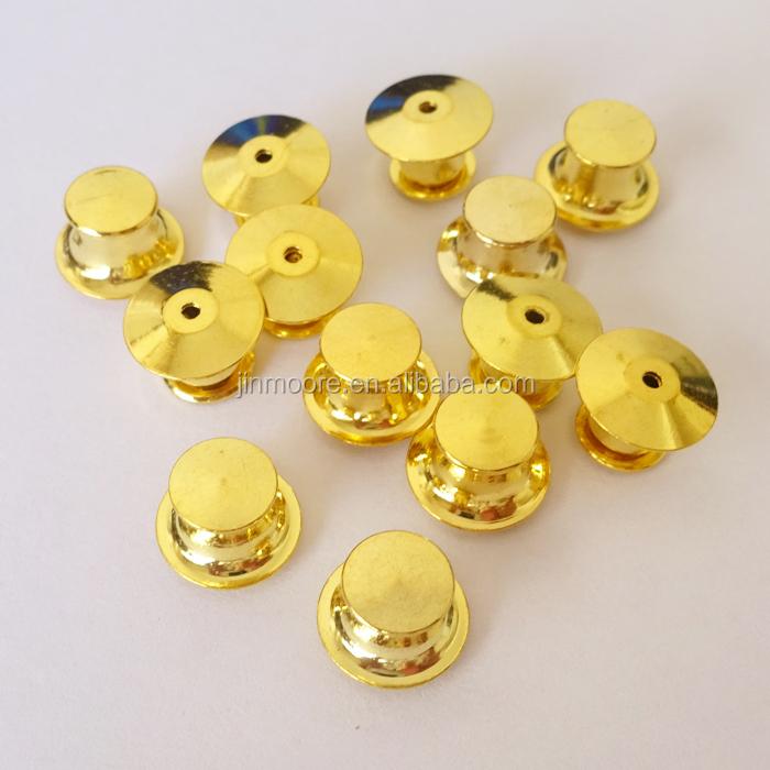 12 Pcs Brass Gold Flat Head Pin Backs Locking Bulk Metal Pin Keepers Clasp  - Buy Lock Pin Back,Lapel Pin Back,Flathead Locking Pin Back Product on