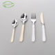 Factory production wholesale flatware silver plated pp handle disposable plastic cutlery