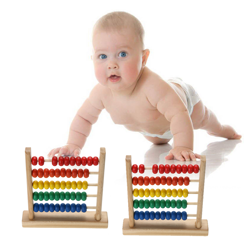Baby Wooden Toy Small Abacus Handcrafted Educational Toy Children's Wooden Early Learning Kids Math Toy