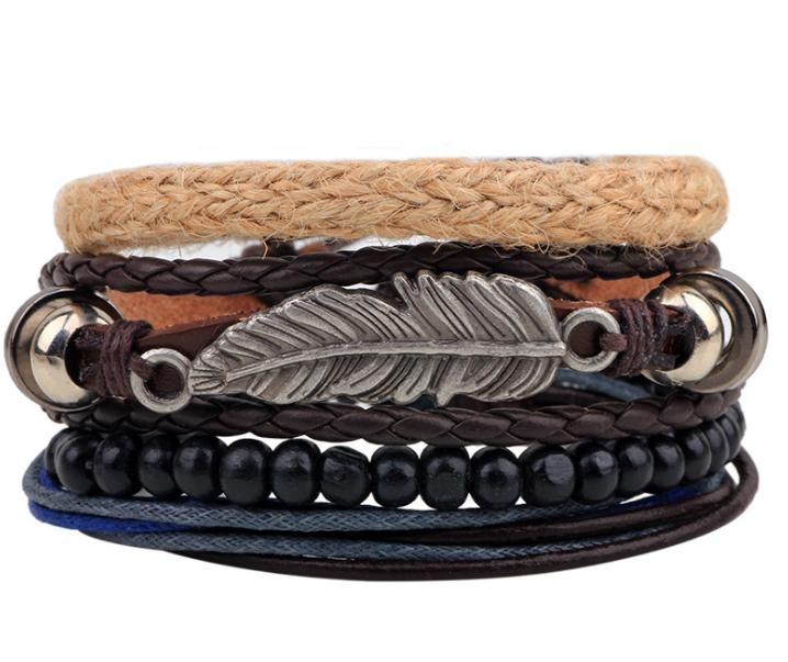 Venta al por mayor hacer pulseras cuero abaloriosCompre online los