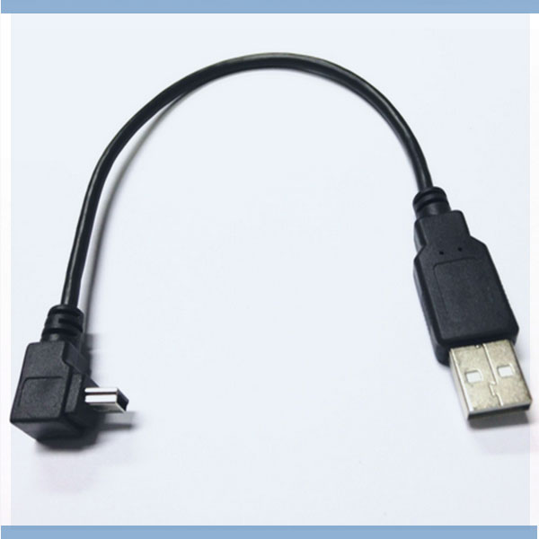Mini USB Type A 5pin Male Left Right Angled 90 Degree to USB 2.0 Male Data Cable