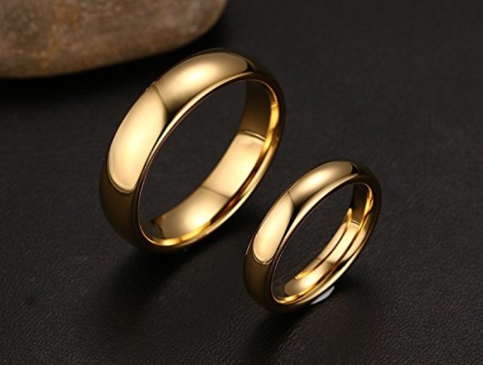 Couple Band Design 6mm 4mm Width High Polish Wholesale Stainless