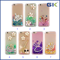 [GGIT] DIY Accessories With Diamond Liquid TPU Phone Case For IPhone 6 Back Cover