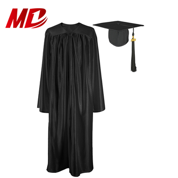 High School 100% Shiny Polyester Graduation Caps Gowns and Tassels