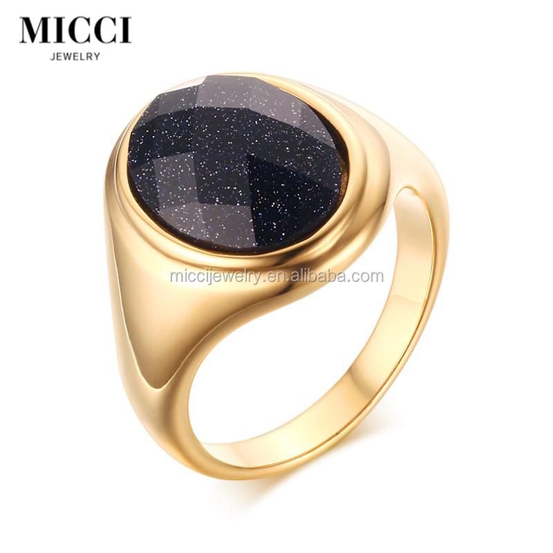 Big Stone Gold Rings In Pakistan Blue Sandstone 22k Gold