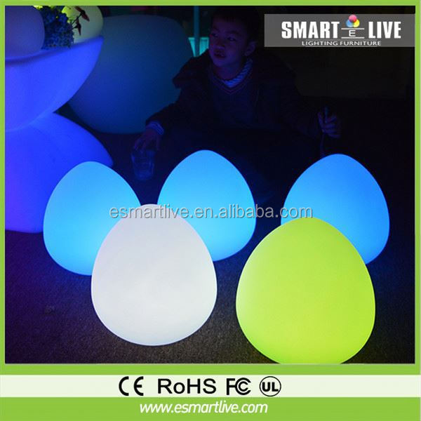 LED Garden ball with waterproof plastic solid surface/ Waterpoof led garden with LED Mood Light